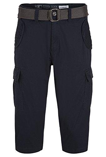 Cool Code, 3/4 Cargohose Für Den Sommer, Herren, Größe XL, schwarz-blau