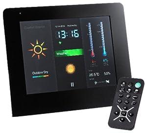 Intenso Weather Man Digitaler Bilderrahmen (17,8 cm (7 Zoll) Display) mit Funkwetterstation schwarz