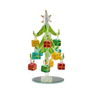Mini Christal Glass 6 Christmas Trees With