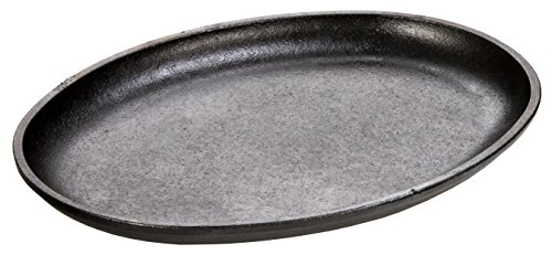 Lodge Cast Iron 10 x 7.5 Inch Handleless Oval Serving Griddle (Oval Cast Iron Serving Griddle compare prices)