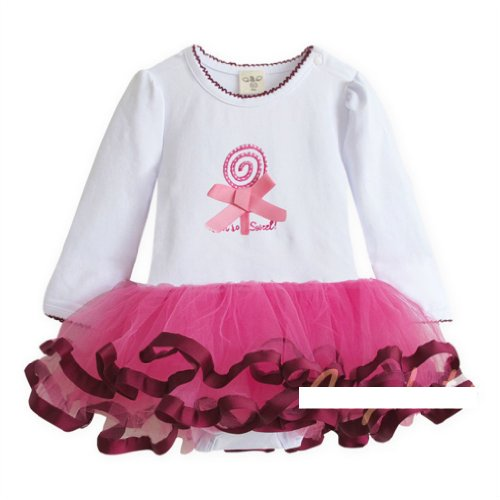 Kubee Baby Autumn Romper Outfits Girl Kid Bodysuits Toddler Tutu Dress Jump Suit