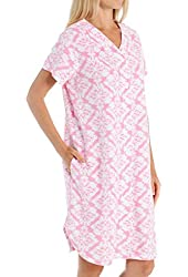 Miss Elaine Micro Terry Short Button Front Robe (854035)