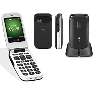 Doro PhoneEasy 614 Easy to Use Clamshell 3G Mobile Phone - Black