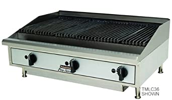 New Toastmaster 48-inch Gas Radiant Charbroiler Counter 4 Burner Iron Char 48""