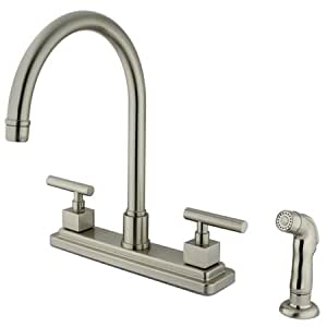 "MPN: KS8798CQL Kingston Brass KS8798CQL Claremont Two Handles 8"" Kitchen Faucet with Matchin..."