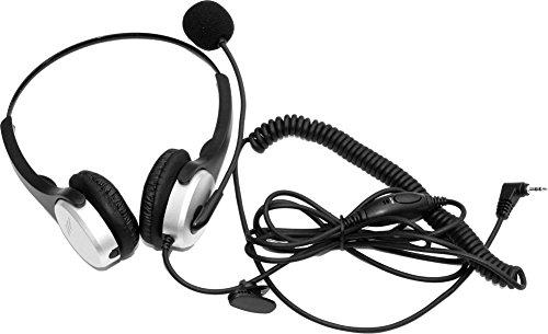 voistek corded binaural call center telephone headset