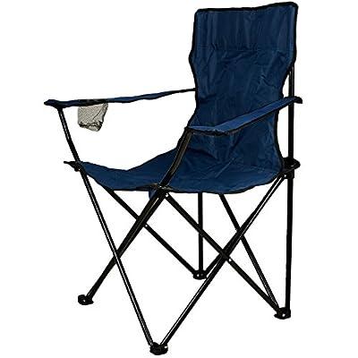 Nexos Angelstuhl Anglerstuhl Faltstuhl Campingstuhl Klappstuhl mit Armlehne und Getränkehalter praktisch robust leicht von Nexos Trading - Gartenmöbel von Du und Dein Garten
