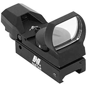 UAG Tactical 4 Reticle Red Dot Open Reflex Sight with Weaver-Picatinny Rail Mount