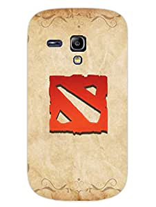 Dota 2 Minimal - Hard Back Case Cover for Samsung S3 Mini - Superior Matte Finish - HD Printed Cases and Covers
