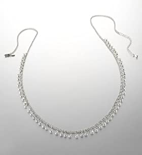 Limited Collection Diamanté Drop Chain Necklace