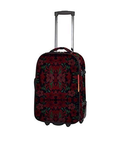 TRAVEL WORLD 3er Set Trolley, halbstarr  0 cm schwarz/rot