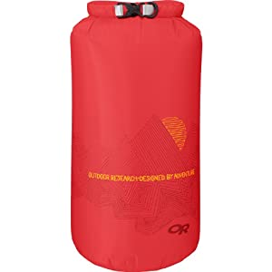 Outdoor Research Ridgeline Dry Sack, 15-Liter, Hot Sauce
