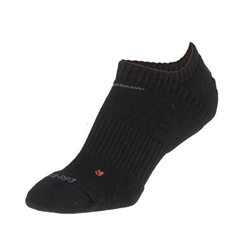 NEW Nike Dri Fit Performance No Show Golf Socks Black Mens 12-15