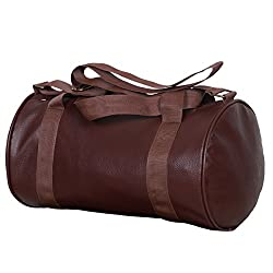 Dee Mannequin 25Litres Leather Rite Brown Gym Duffle Bag