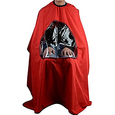 Silvercell Barbers Hair Cutting Cape Gown Viewing Window Hairdressing Clothes