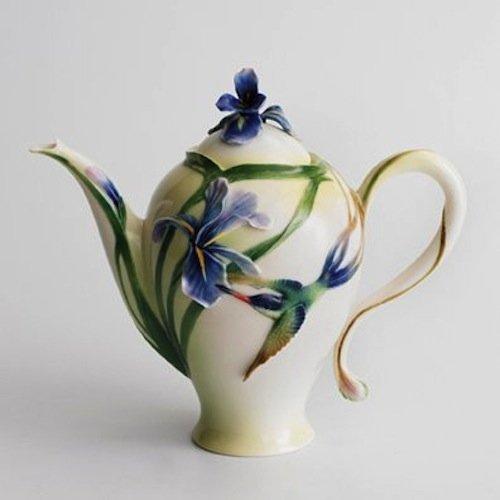 Franz Porcelain Long Tail Hummingbird Design