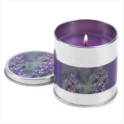 Lavender Scented Tin Candle Container Home Fragrance