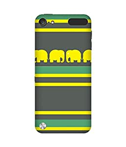 Stripes And Elephant Print (14) Apple iPod Touch (5th generation) Case