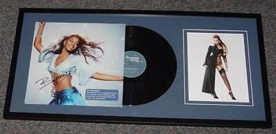 Beyonce Knowles Signed Framed Baby Boy Album & Photo Display 15X32 Aw