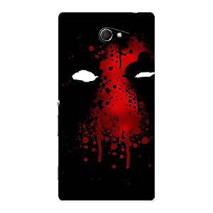 Cute Horror Red Back Case Cover for Sony Xperia M2