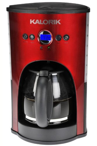 Programmable Coffee Maker, 14.5Hx9.5Wx9D, RED BLACK