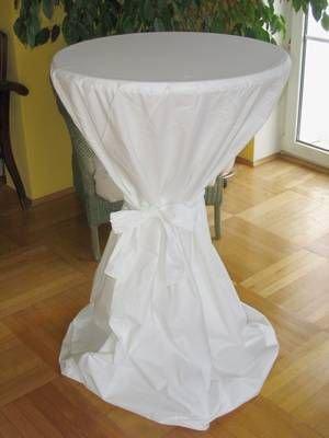 stehtischhusse hussen f r bistrotische 70 bis 75 cm baumwolle weiss kochfest. Black Bedroom Furniture Sets. Home Design Ideas