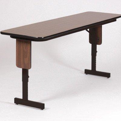 "Rectangular Folding Table Finish: Gray Granite, Size: 96"" W X 18"" D"