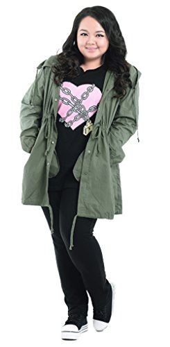 Mooncolour Womens Plus-Size Thin Unlined Hooded Jacket Trenchcoat