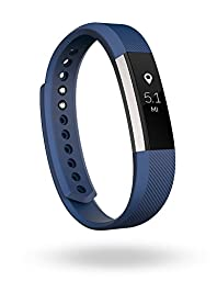 Fitbit Alta Fitness Tracker, Silver/Blue, Large