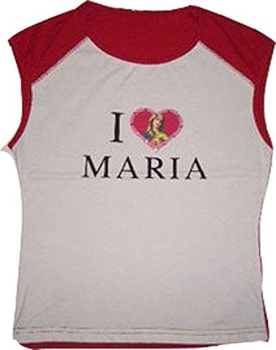 Vive Maria T-shirt senza maniche a less Stretch I Love Maria bianco-rosso taglia Small