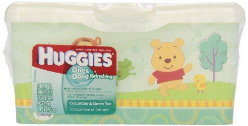Huggies One & Done Refreshing Baby Wipes, Tub, 512 Total Wipes 64-Count (Pack Of 8)