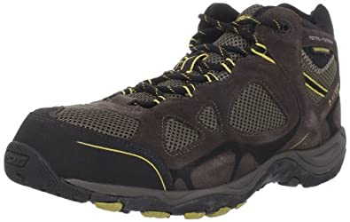 Hi-Tec Men's Total Terrain Mid Wp Hiking Shoe,Dark Chocolate/Saffron,8 M US