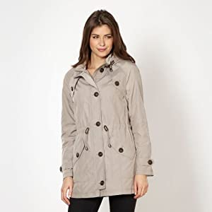 Fawn hooded drawstring parka-16