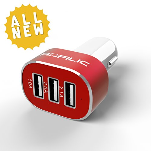 Usb Car Charger - Portable For Travel And Comes With 100% Lifetime Better Than Money Back Guarantee - Rapid Charging Triple Usb Ports For Iphone 5, 5S, 5C, 4, 4S, Ipad 4, 3, 2, Ipad Air 4, 3, 2, Ipad Mini 1, 2 Retina, Ipad Touch, Ipod Nano (Lightning Cabl