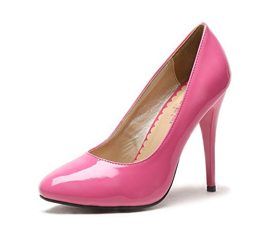 High Heel Pump Party Shoes Rose Patent Leather 11 M US