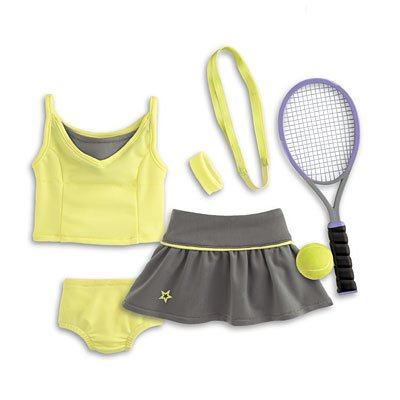 American Girl My AG Tennis Skirt Set + Charm