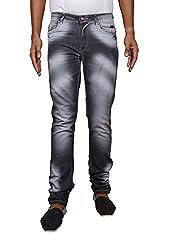 John Wills Men's Slim Fit Jeans (MCR1010--38, Black, 38)