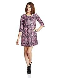 GAS Women's A-Line Dress (81696_Pastel Rose_Small)