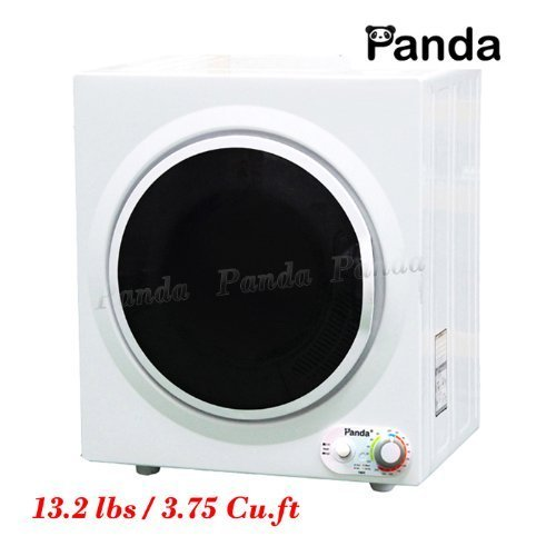 panda portable compact stainless steel tumble dryer