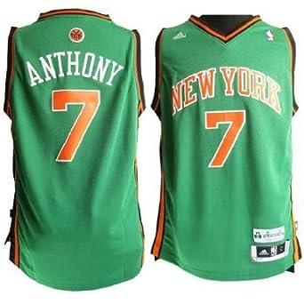 Adidas New York Knicks Carmelo Anthony St Patricks Swingman Jersey by adidas