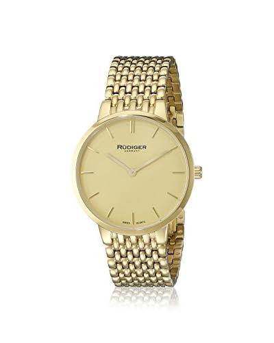 Rüdiger Men's R2400-02-002B Kassel Gold-Tone Stainless Steel Watch