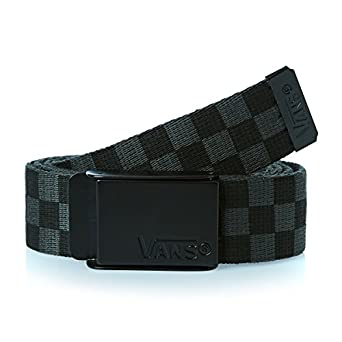 Vans Men's Deppster Web Belt, Multicoloured (Black/Charcoal), 36 cm (Manufacturer Size:One Size)