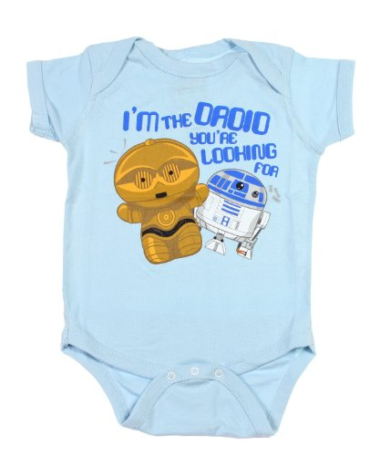 Star Wars I'M The Droid Your Looking For R2D2 C3P0 Snapsuit Bodysuit One Piece Snapsuit(12-18 Months) front-1014129