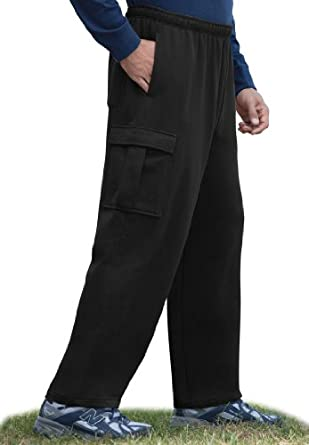 KingSize Men's Big Tall Easy-Care Fleece Cargo Pants at ...