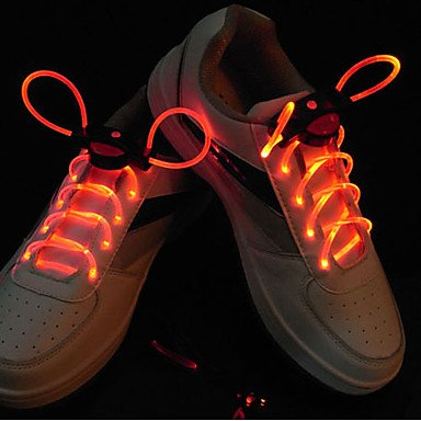 Zcl Flash Grow Stick Red Light Waterproof Led Shoelace (1-Pair)