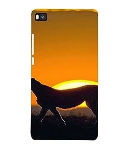 PrintVisa Animal Leopard Design 3D Hard Polycarbonate Designer Back Case Cover for Huawei P8