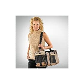 Dog Carrier Airline Approved Duffel Style for Dogs 5 - 18 Lbs.