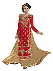 Jiya Presents Lehenga Choli(Chikoo,Red)