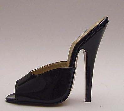 High-Heels-Pantoletten: Pantolette Lack schwarz Gr.34/35 Absatz 12.5cm