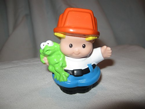 Fisher Price Little People Construction Demolition Builders Workers Drafters Hard Hat Job Site Load & Go Construction Builder EDDIE Glossy OOP 2010 - 1